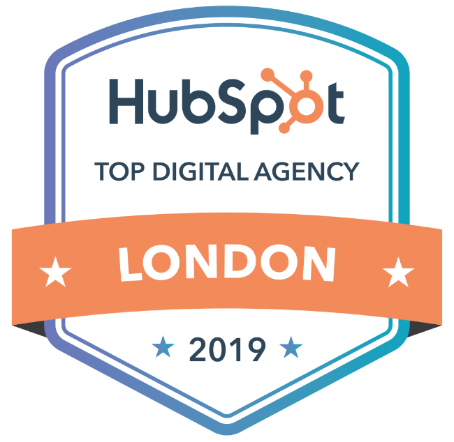 Award give to Electric Monk by HubSpot for being one of the top digital agencies in London